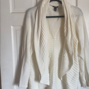 Open cardigan cream color